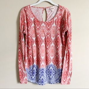🌻 MOSSIMO - red/blue long sleeve - small